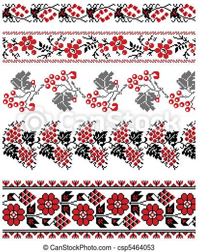 Ukrainian embroidery ornament - csp5464053