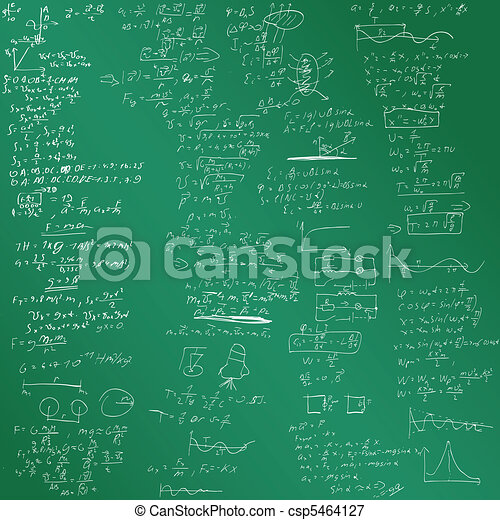 The vector background with physical formulas - csp5464127