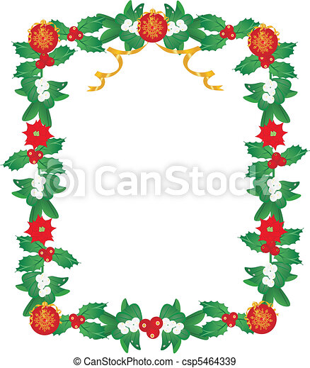 Lavishly garnished Seasonal Frame - csp5464339