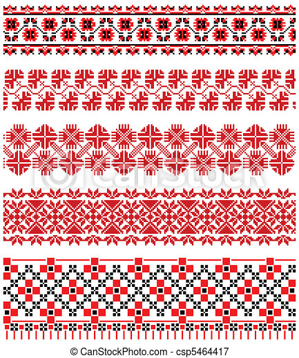 Ukrainian embroidery ornament - csp5464417