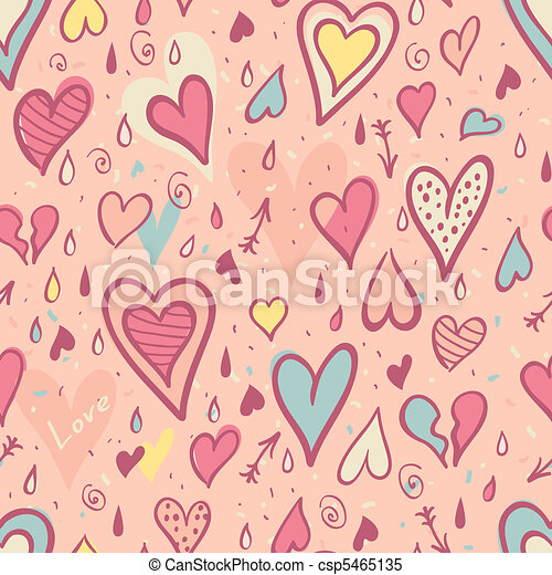 Valentine seamless pattern with hearts - csp5465135