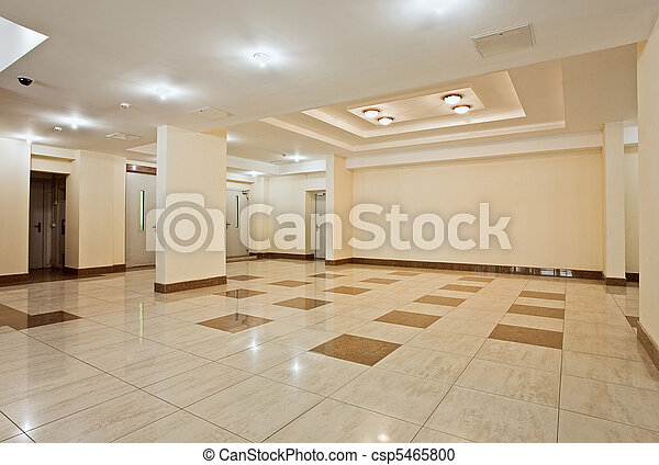 Roomy hall of modern residential building - csp5465800