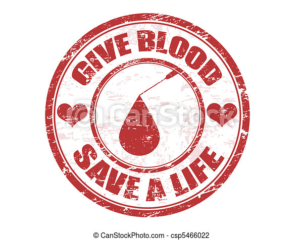 Give blood stamp - csp5466022