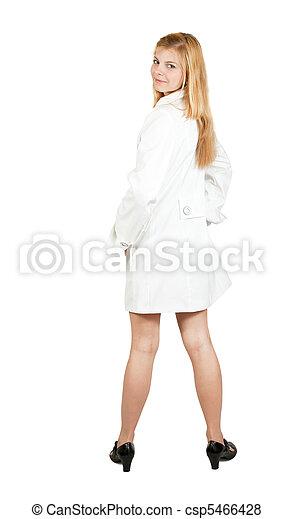 Pretty girl in cloak - csp5466428