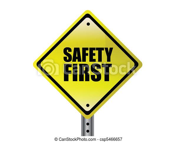Safety first  - csp5466657