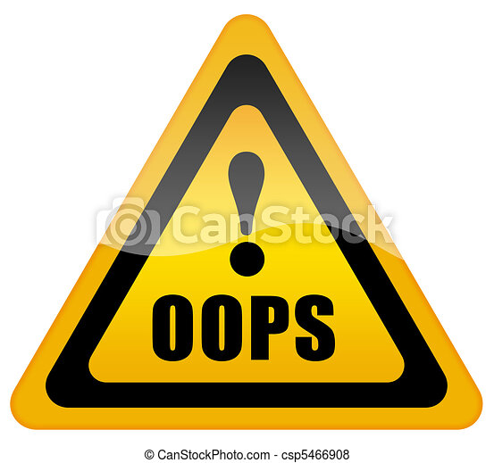 Oops sign - csp5466908