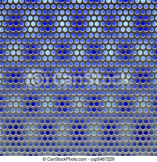 Metal grille on blue - csp5467229