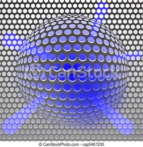 Blue metal grille - csp5467230