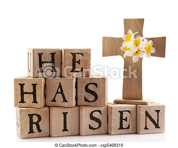 Easter He Has Risen Clip Art