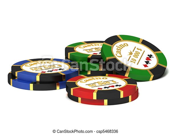 Casino chips - csp5468336