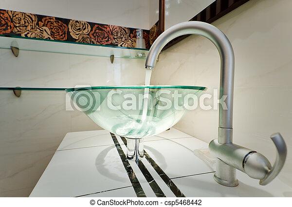 Archivi fotografici di vetro lavandino ciotola moderno minimalismo bagno csp5468442 - Lavandino bagno vetro ...