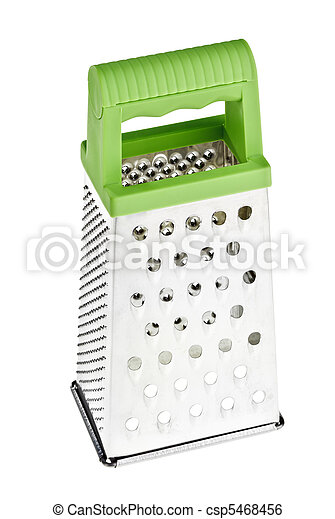 Multi purpose stainless steel grater with green plastic handle - csp5468456