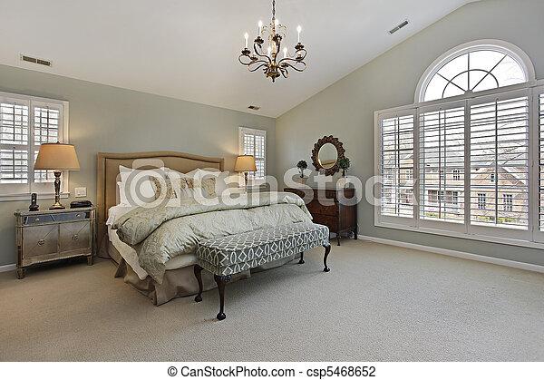 Photo de fen tre chambre coucher ma tre circulaire for Chambre a coucher sans fenetre