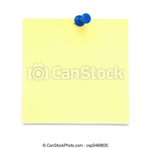 Paper note with push pin - csp5469835