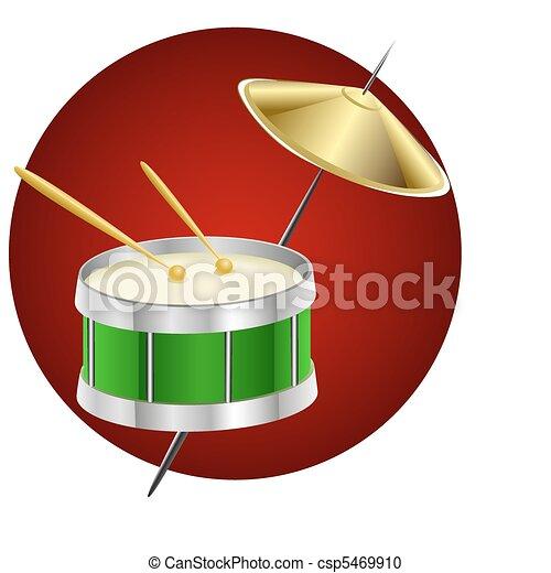 drum music instrument - csp5469910