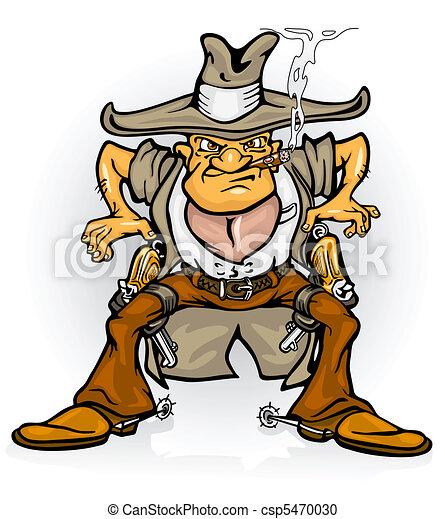 western cowboy bandit with gun - csp5470030