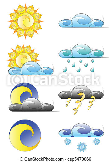 set of weather climate icons - csp5470066