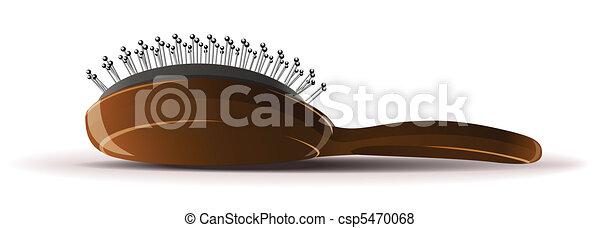 comb  broom on white background - csp5470068