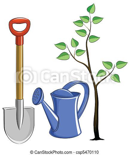 set garden instrument with tree - csp5470110