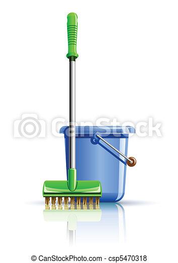 bucket and mop - csp5470318