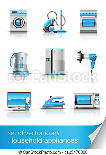 household appliances vector  - csp5470320