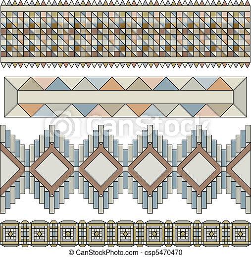 Trim or border collection - vector - csp5470470