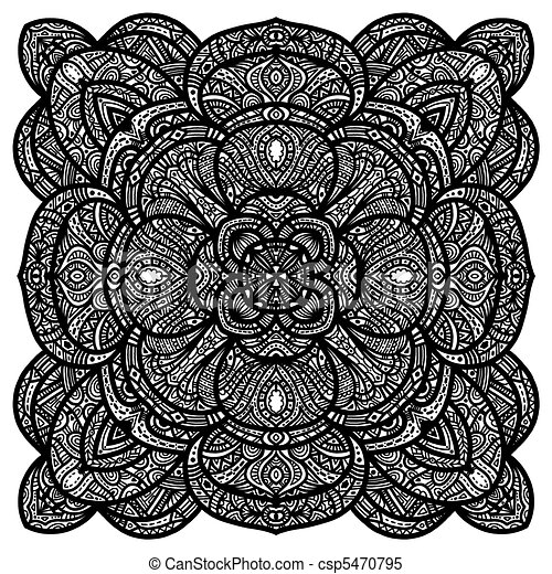 Detailed black ornament - csp5470795