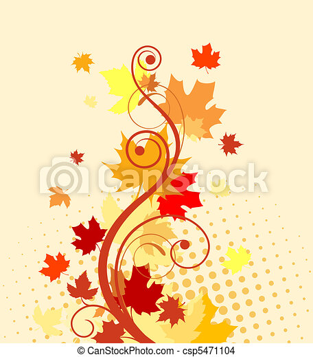 Autumn leaves background - csp5471104