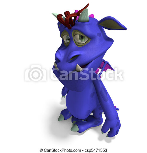 monster. 3D rendering with and shadow over white - stock image, images ...