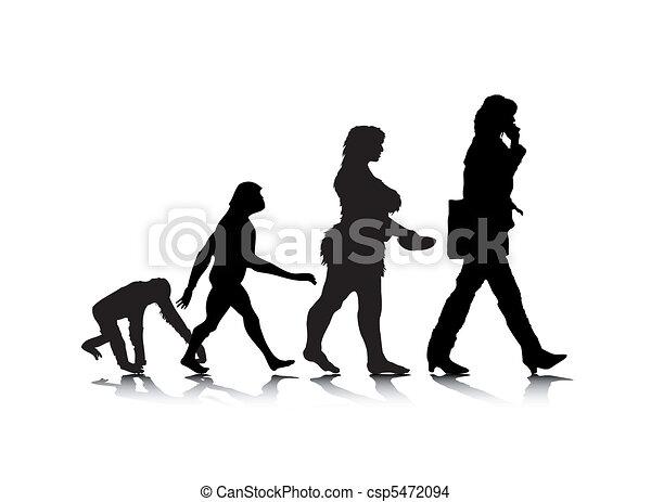Human Evolution 7 - csp5472094