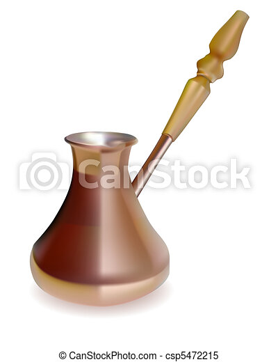 Copper Turk to brew coffee  - csp5472215