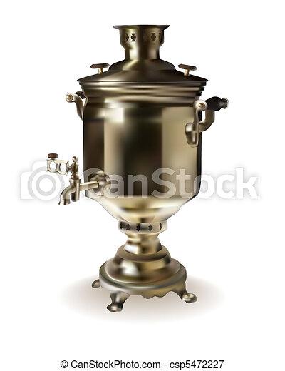 Russian brass samovar  - csp5472227