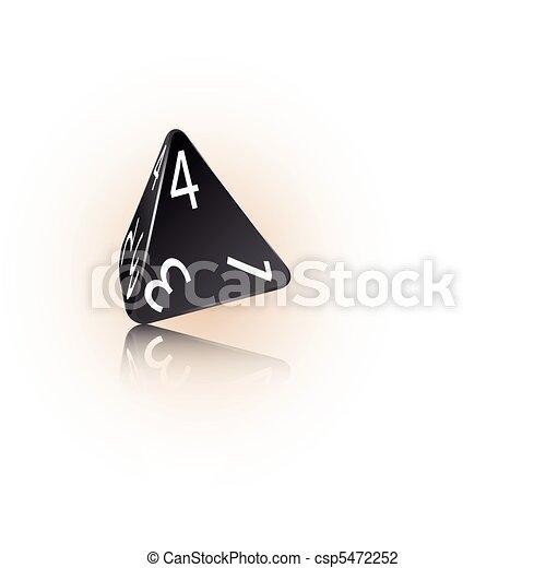 4-sided Die - csp5472252