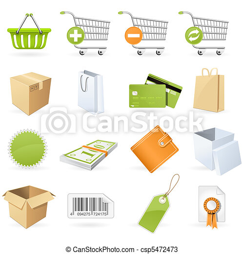 Shopping and retail icons - csp5472473