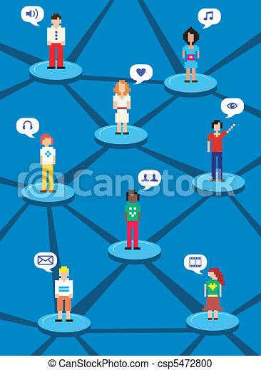 Social network concept - csp5472800