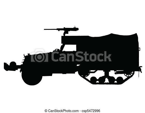 WW2 - Halftrack Armoured Car - csp5472996