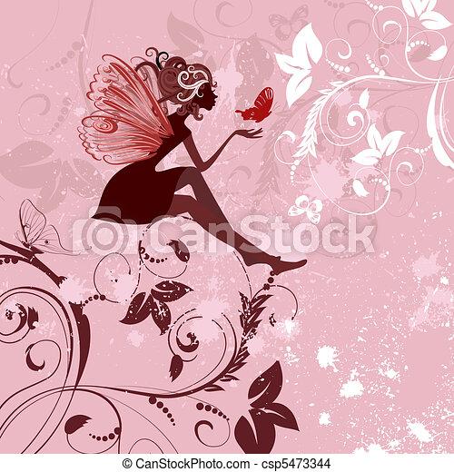 fairy pattern grunge - csp5473344