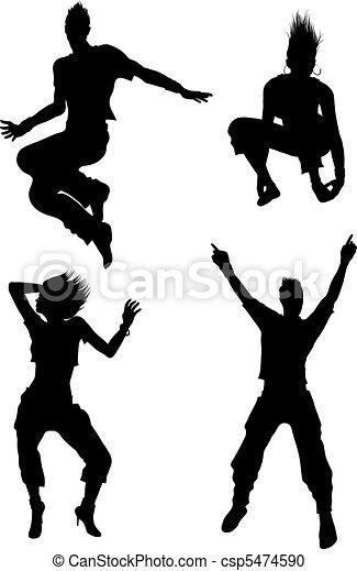 矢量-舞蹈演员, 侧面影象