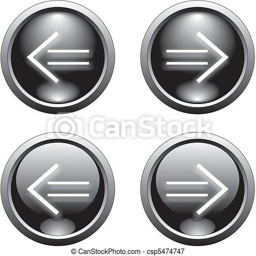 black arrow  button     - csp5474747