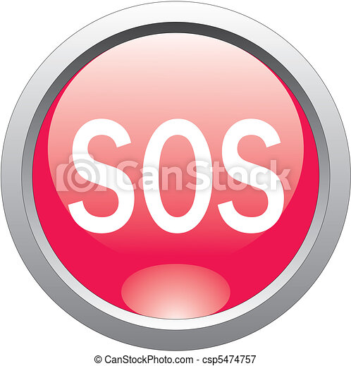 red help and sos button - csp5474757