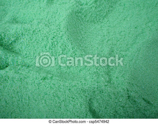 large amount of Green bath salt with scoop holes in it - csp5474942