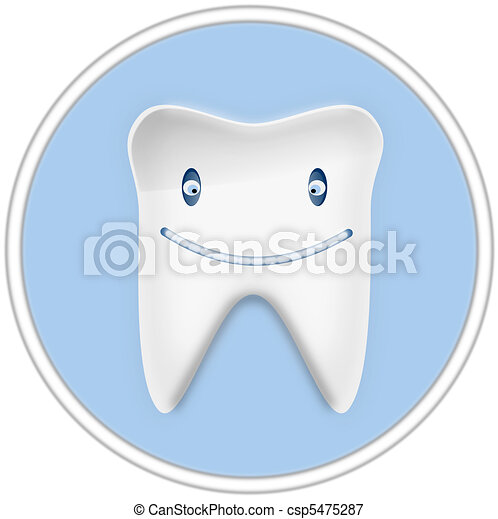 Smiling Cartoon Tooth - csp5475287