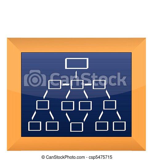 Organization chart blackboard and  - csp5475715
