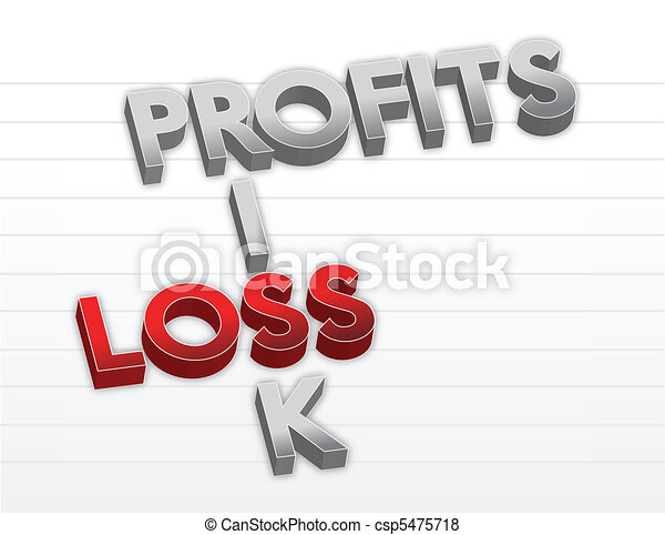 Profits risk and loss illustration  - csp5475718