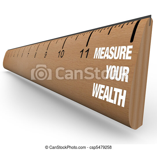 Ruler - Measure Your Wealth - csp5479258