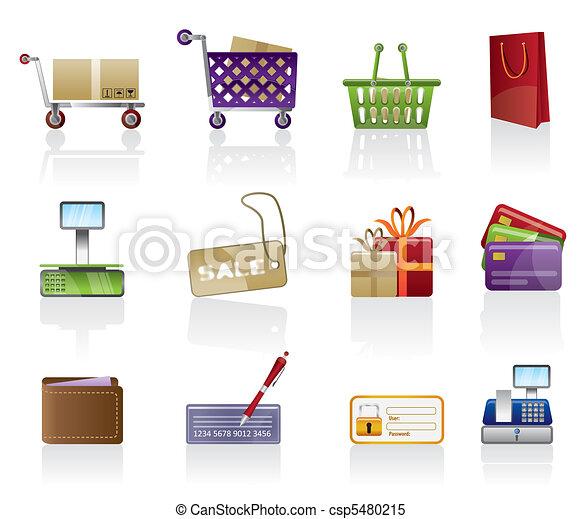 Online Shop icons - csp5480215