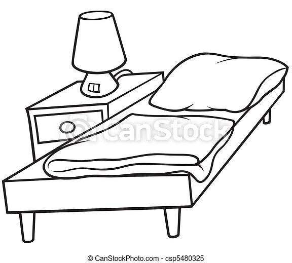 comment dessiner un lit. Black Bedroom Furniture Sets. Home Design Ideas