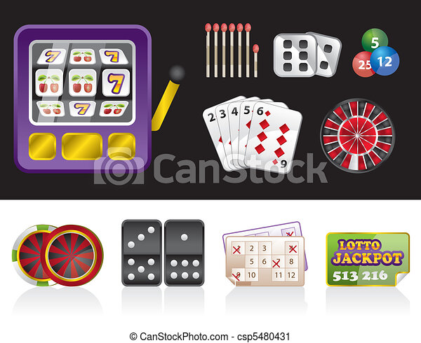 casino and gambling tools icons - csp5480431