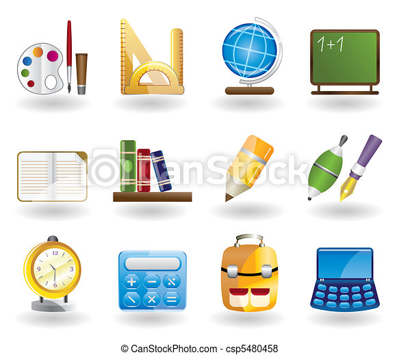 School and education icons - csp5480458