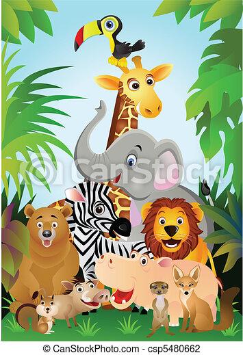 Illustrazioni vettoriali di cartone animato animale - Animale cartone animato immagini gratis ...